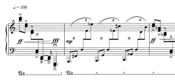 Advent Sketches : I ; score excerpt