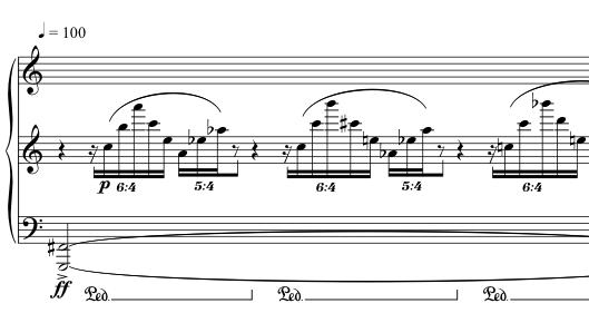 Advent Sketches : II ; score excerpt