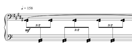 Advent Sketches : IV ; score excerpt