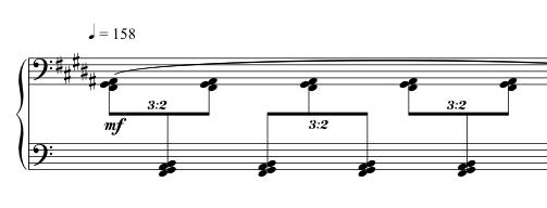 Advent Sketches : IV ; score excerpt