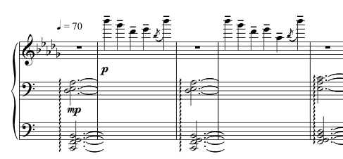 Advent Sketches : X ; score excerpt