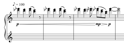 Advent Sketches : XII ; score excerpt