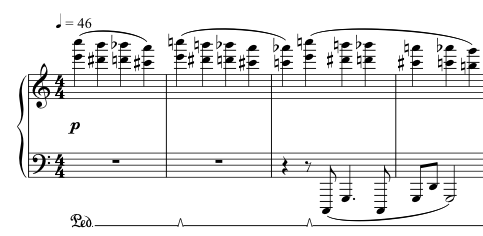 Advent Sketches : XIV ; score excerpt