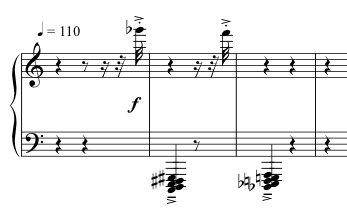 Advent Sketches : XVI ; score excerpt
