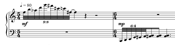 Advent Sketches : XX ; score excerpt