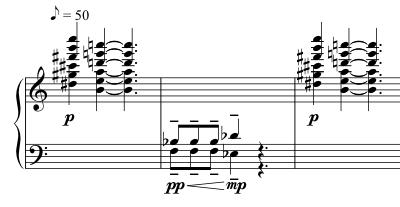 Advent Sketches : XXIV ; score excerpt