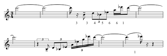 Eight-bar excerpt from the oboe part.