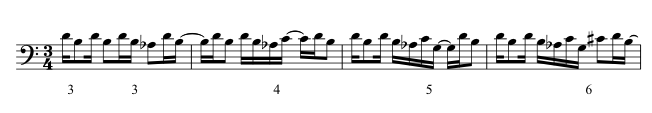 Four-bar excerpt from the bassoon part