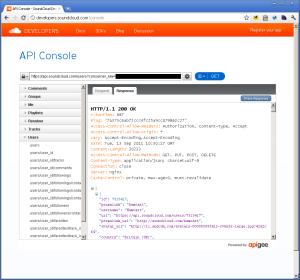 Screenshot: apigee