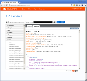 Screenshot: apigee
