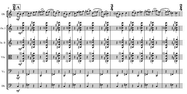 The rondo theme with accompaniment