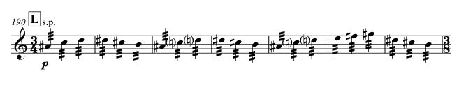 Accompanying figuration in Violin I